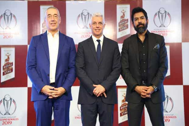 From left: Pernod Ricard India MD Guillaume Girard-Reydet, Pernod Ricard India ICC chief executive Dave Richardson and Pernod Ricard India chief marketing officer Kartik Mohindra