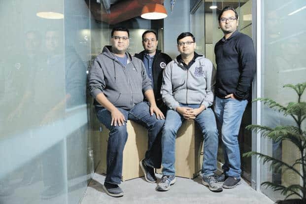 Milkbasket co-founders (from left) Anant Goel, Anurag Jain, Ashish Goel and Yatish Talvadia.