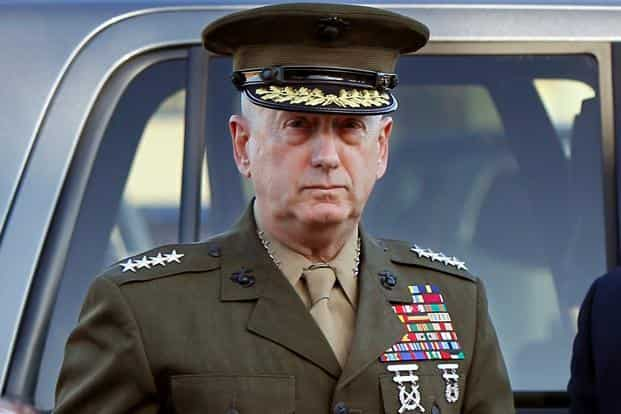US defence Secretary James Mattis hailed the coalition to defeat the Islamic State and also defended NATO. Photo: Reuters