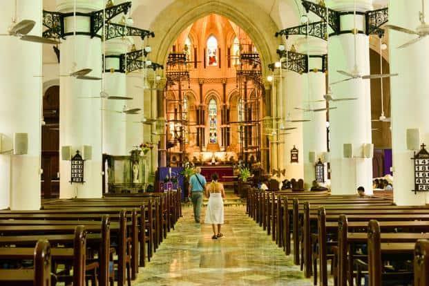 The grand nave of St Thomas Cathedral.  Photo: Aniruddha Chowdhury/Mint