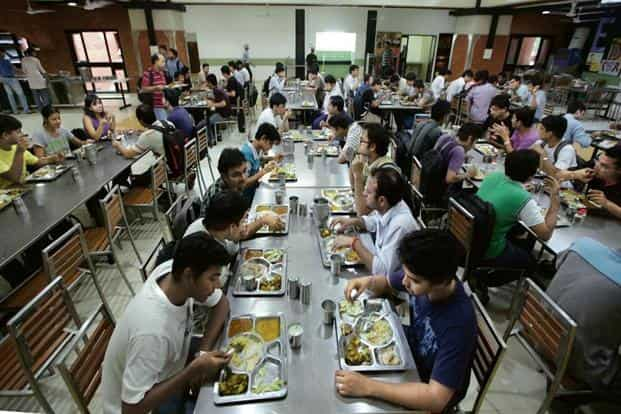 The Indian hostel mess has historically been a site for food politics. Photo: Raj K. Raj/Hindustan Times
