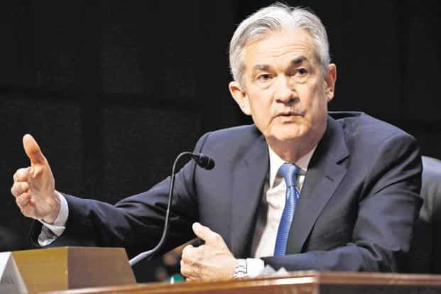 US stocks have plunged on fears of a slowing global economy and President Donald Trump's criticism of Fed chairman Jerome Powell (in pic). Photo: Bloomberg