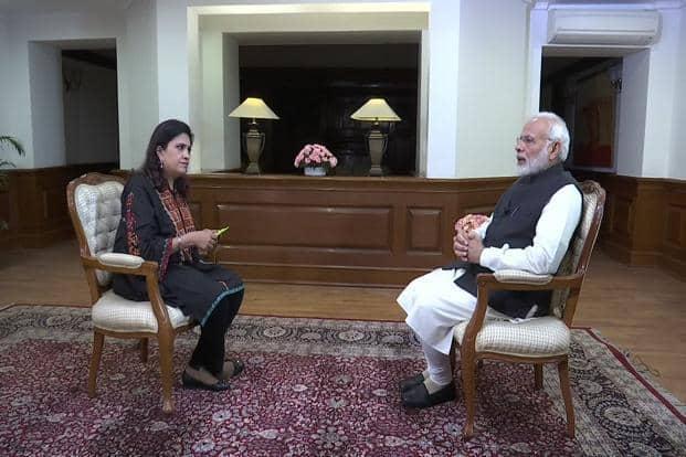 Prime Minister Narendra Modi during the ANI interview. Photo: Twitter/ANI