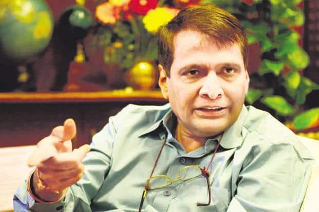 Aviation minister Suresh Prabhu. Photo: Pradeep Gaur/Mint