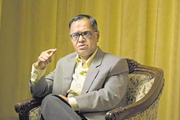 N.R. Narayana Murthy is also in the midst of penning a book on Infosys. Photo: Mint
