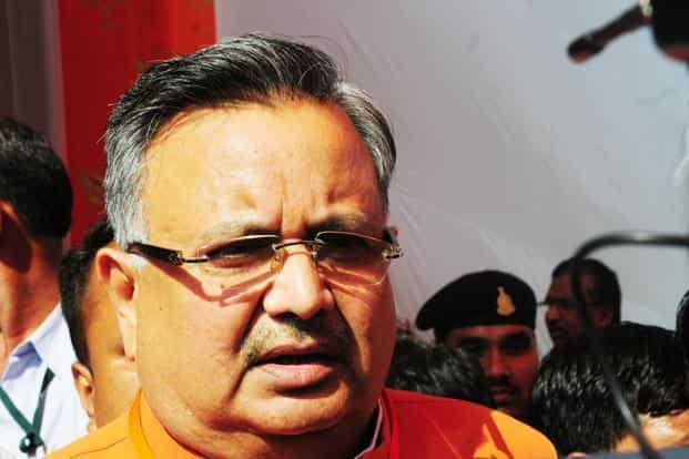The BJP has tried to encash the popularity of chief minister Raman Singh and his popular schemes in Chhattisgarh state assembly elections this time. Photo: Ramesh Pathania/Mint