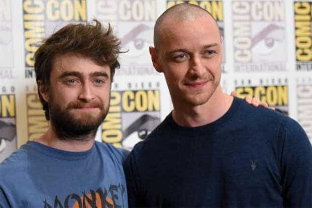 """Daniel Radcliffe (left) and James McAvoy were also present for the press line for the horror film """"Victor Frankenstein""""on day 3. Horror films became a major theme at the convention with likes of """"The Gallows"""", """"The Visit"""" and """"Cooties. AP"""